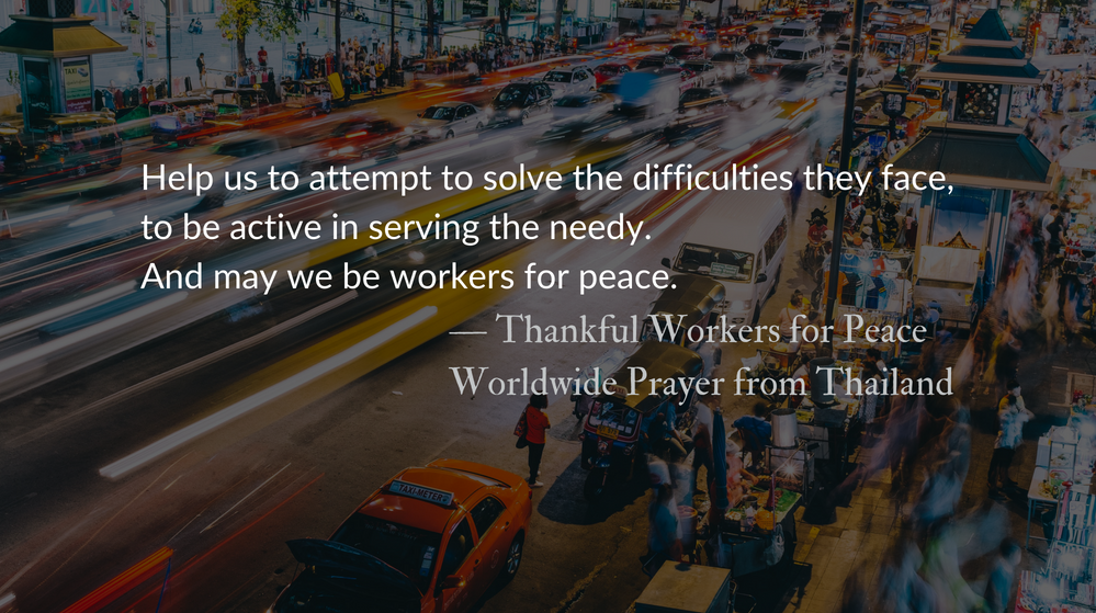 Thankful Workers for Peace :: Worldwide Prayer – The Park Forum